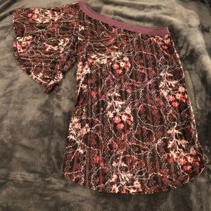 Free People one shoulder top Size XS